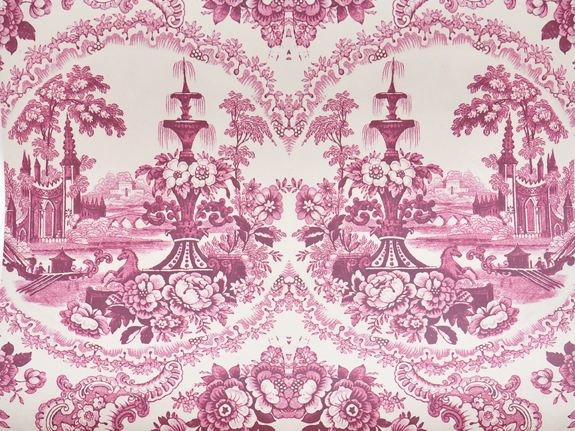 Motif wallpaper DELFT BAROQUE WALLPAPER - PINK by Mineheart