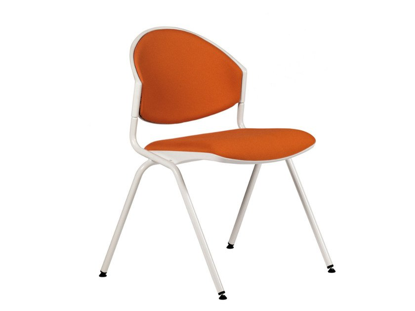 Upholstered stackable fabric reception chair DELFI 088 by TALIN