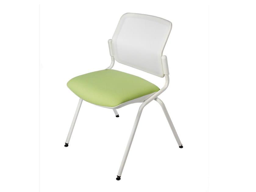 Sedia imbottita in tessuto per sale d'attesa DELFI NET 073 by TALIN