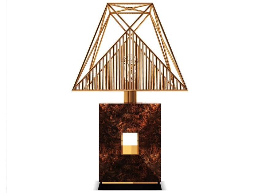 Brass table lamp DELICATO by Porustudio