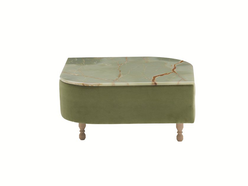Square marble coffee table DÉLICE 01053MT by Montbel