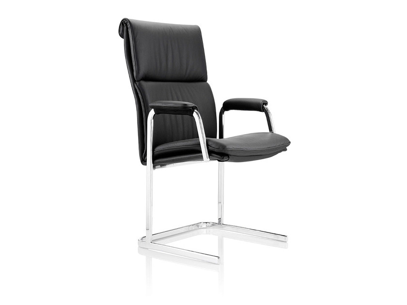 Upholstered high-back leather chair DELPHI | High-back chair by Boss Design