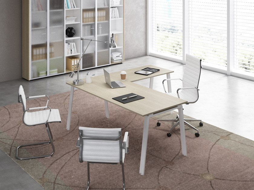 L-shaped office desk DELTA | L-shaped office desk by CUF Milano