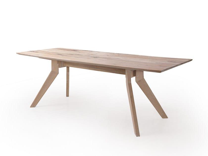 Rectangular oak table DELTA WILD by Oliver B.