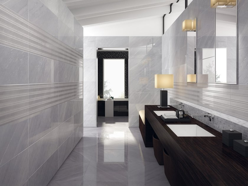 Wall/floor tiles with marble effect DELUXE GREY by Marca Corona