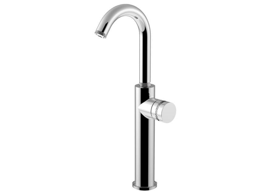 Countertop single handle washbasin mixer with flexible hose DELUXE - MYRING - FMR0085HADL by Rubinetteria Giulini
