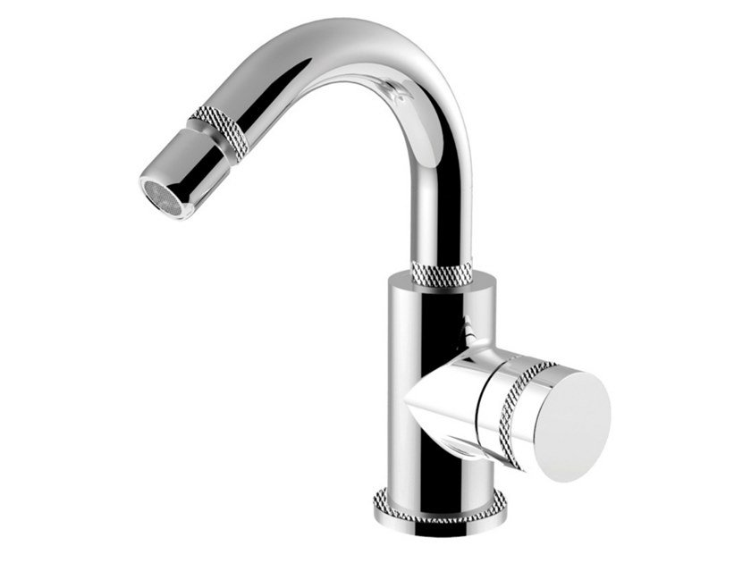 Single handle bidet mixer with swivel spout DELUXE - MYRING - FMR0087ADL by Rubinetteria Giulini