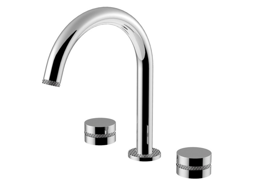3 hole countertop washbasin mixer DELUXE - MYRING - FMR0112UDL by Rubinetteria Giulini