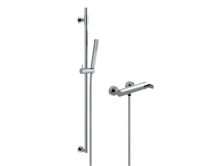 External single handle shower tap with hand shower DELUXE - SURF - F5808WSDL by Rubinetteria Giulini