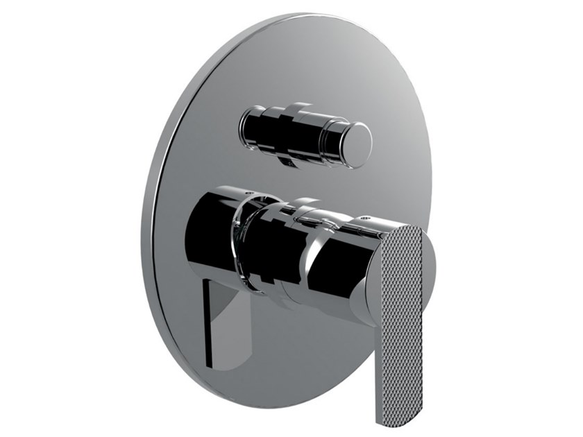 Recessed single handle shower tap with diverter DELUXE - SURF - F5813DL by Rubinetteria Giulini