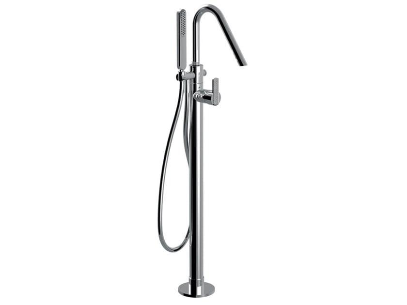 Floor standing single handle bathtub mixer DELUXE - SURF - F5892DL by Rubinetteria Giulini