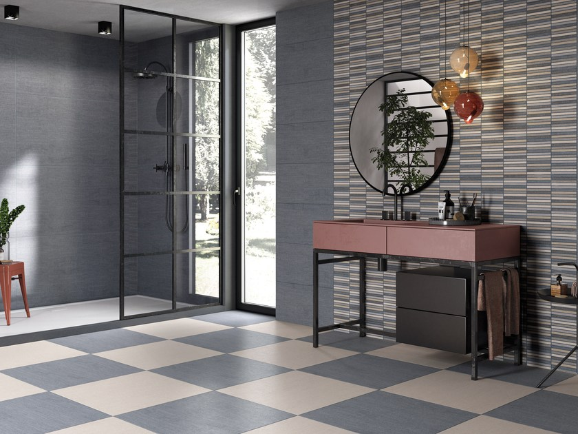 Porcelain stoneware wall tiles / flooring DENIM by Ceramica Rondine