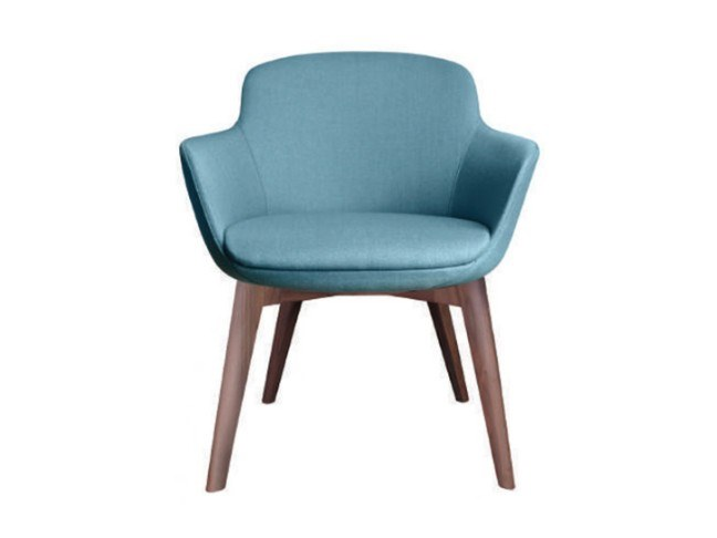 Fabric chair with armrests DENISE | Chair by Conceito Casa