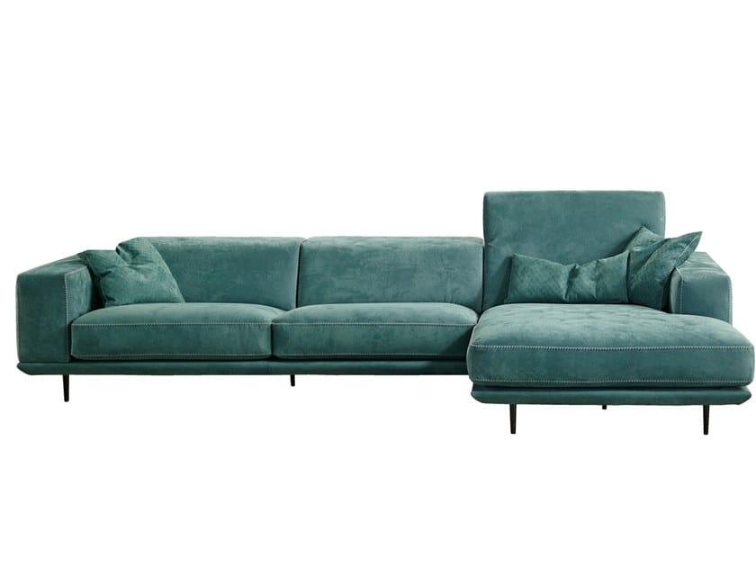 Sectional leather sofa DENNY by Gamma Arredamenti