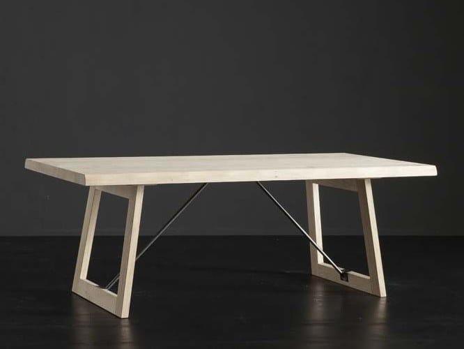 Rectangular oak dining table DENVER + FLAT/ TIRANTI by AltaCorte
