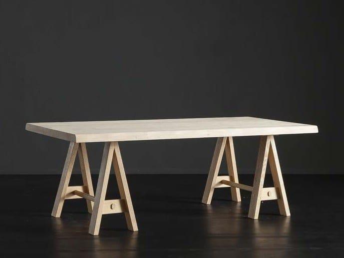 Rectangular Oak Dining Table DENVER HORSE By AltaCorte