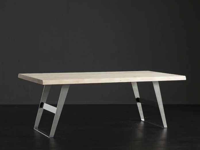 Rectangular oak dining table DENVER + IRON by AltaCorte