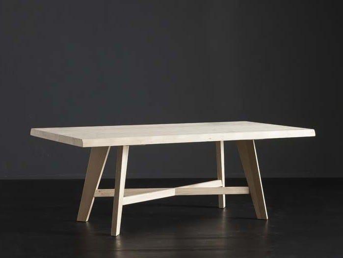 Rectangular oak dining table DENVER + PECHINO by AltaCorte