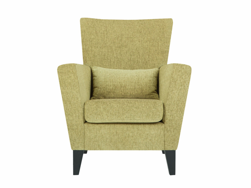Upholstered fabric armchair with armrests DENVER by SITS
