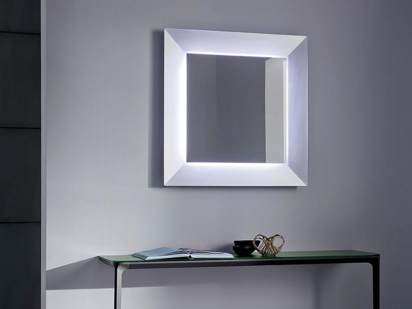 Specchio quadrato con illuminazione integrata DENVER UP | Specchio quadrato by Sovet italia