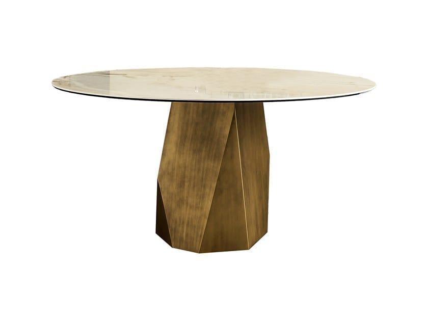 Round ceramic table DEOD | Ceramic table by Sovet italia