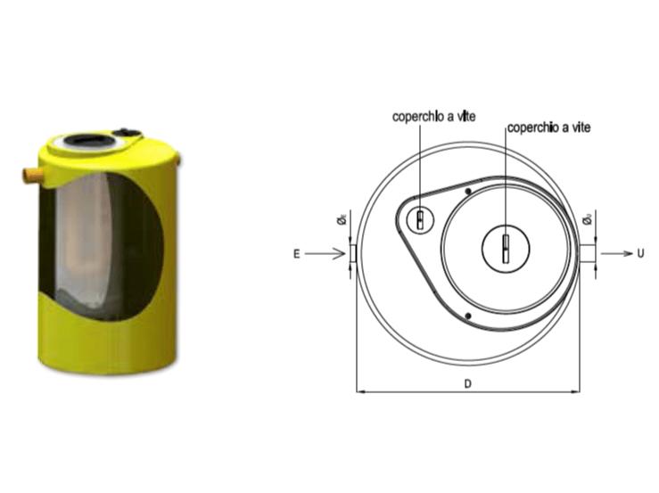 Oil separator, de-oiler and grease separator DEOLIATORE HT PLUS by Redi