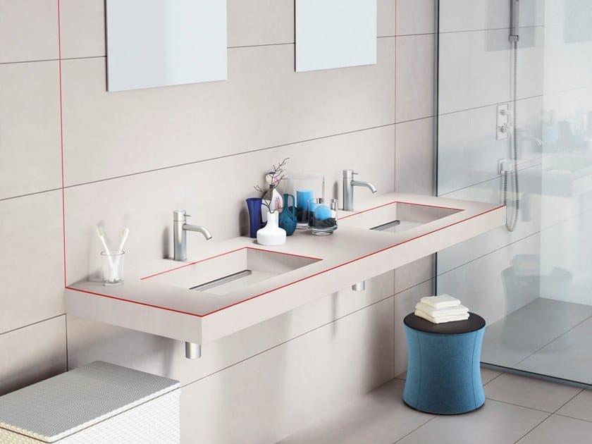 Undermount double laminate washbasin DEPTH LAMINATE by Lago