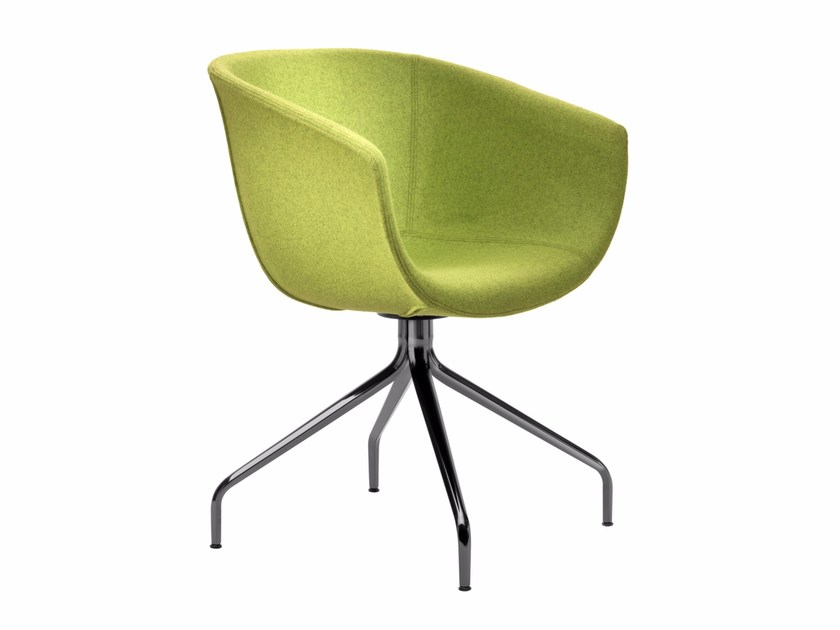 Upholstered trestle-based chair DERBY I0033 by Segis