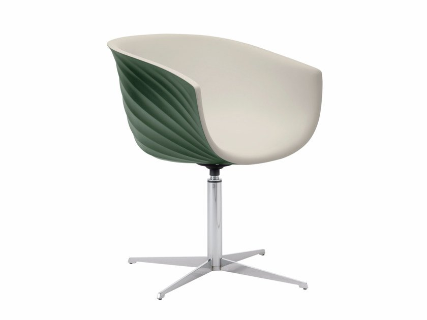 Swivel polyurethane chair with 4-spoke base DERBY S0095 / S0096 by Segis