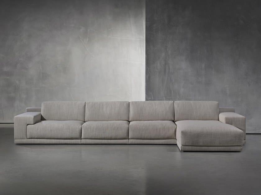 Sofá de tecido com estojo removível com chaise-longues DERK by Piet Boon