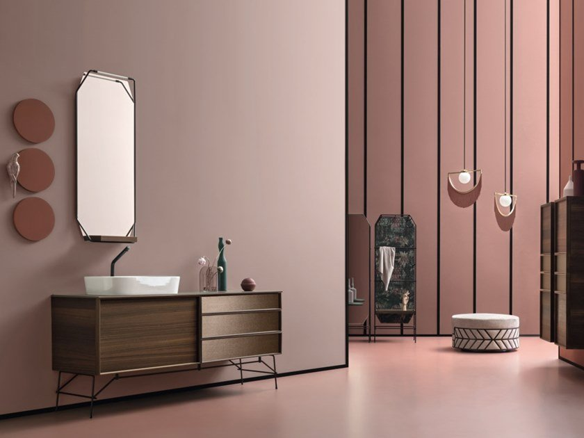 Contemporary style vanity unit DES 32-33 by Cerasa