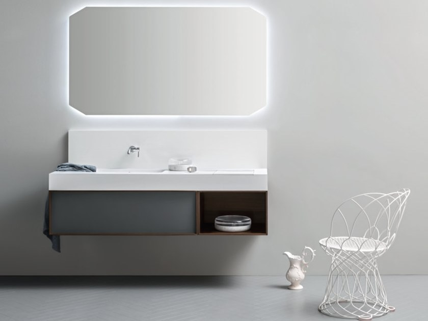 Wall-mounted vanity unit DES 53 by Cerasa