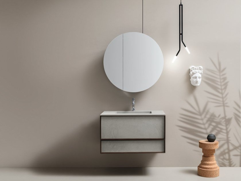 Wall-mounted vanity unit with drawers DES 63 by Cerasa