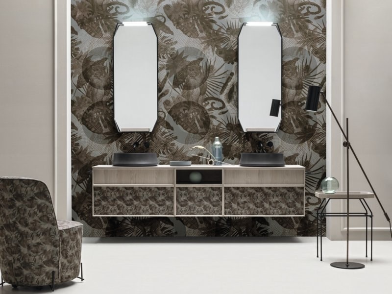 Sectional vanity unit with drawers DES 95 by Cerasa