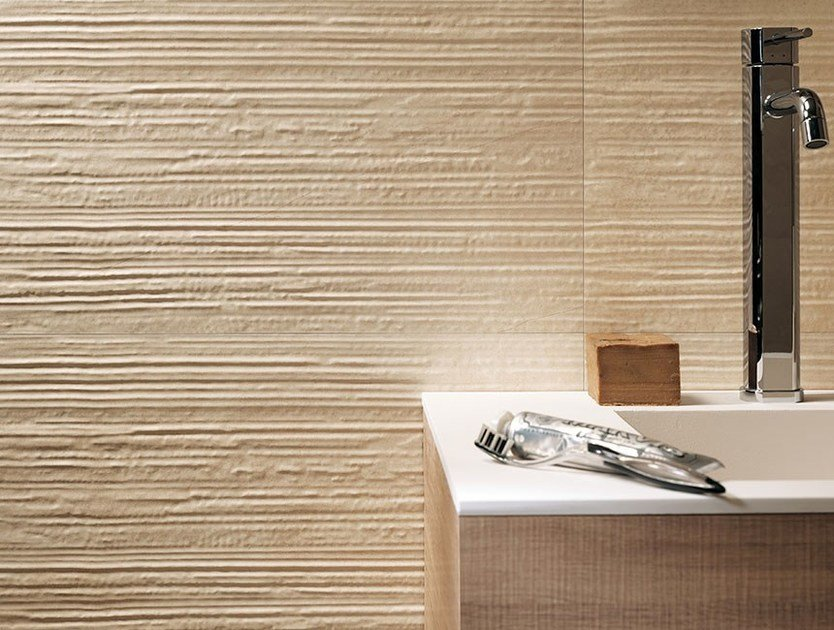 Indoor white-paste 3D Wall Tile DESERT GROOVE | 3D Wall Cladding by FAP ceramiche