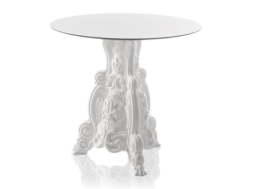 Round polyethylene garden table LORD OF LOVE by SLIDE