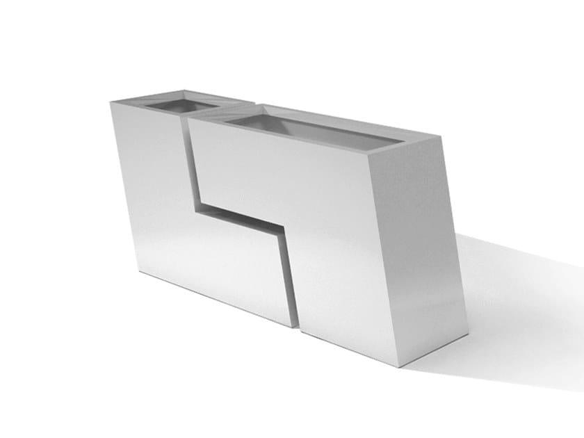 Metal planter DESIGN ZIGZAG by Laubo