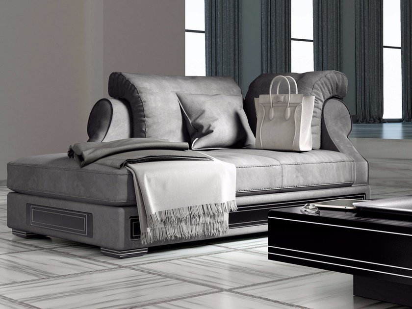 Leather day bed DESIRE COMFORT NOUVEAU | Day bed by Vismara Design