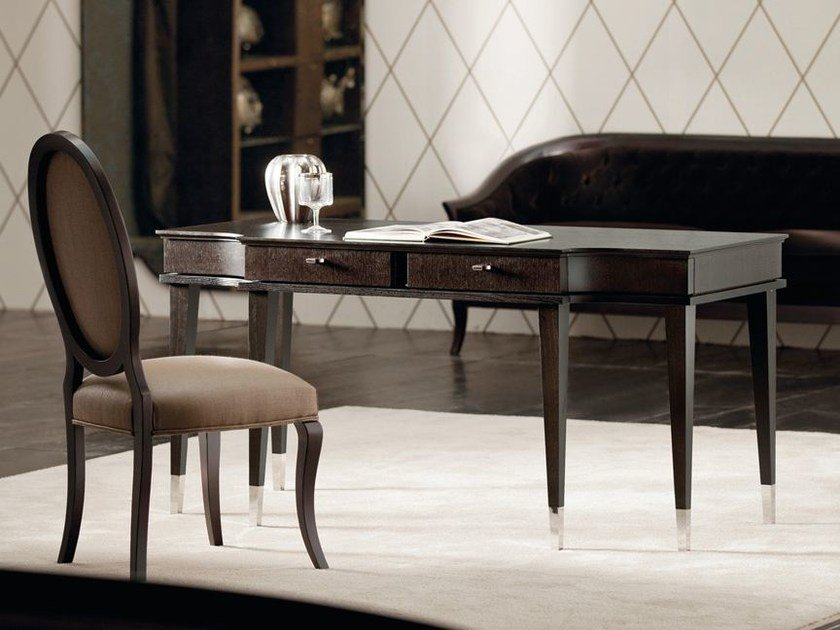 Wooden writing desk with drawers DESIRÉ | Writing desk by OPERA CONTEMPORARY
