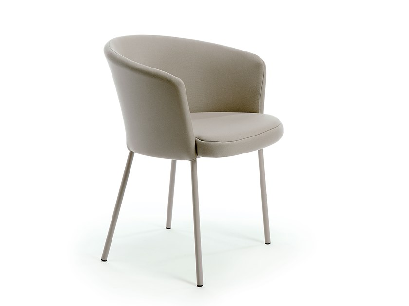 Upholstered fabric garden chair with armrests DÉSIRÉE | Fabric chair by Vermobil