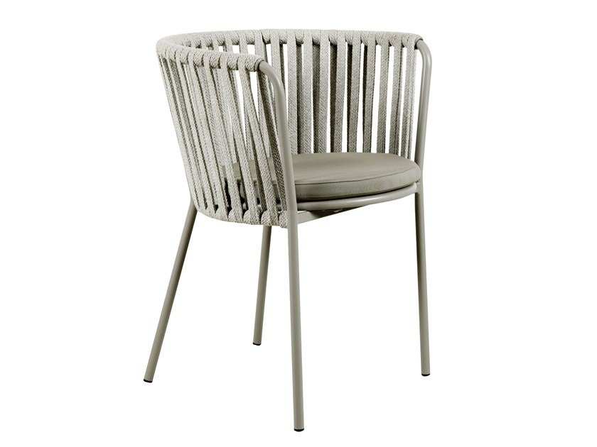 Rope garden chair with armrests DÉSIRÉE | Rope chair by Vermobil