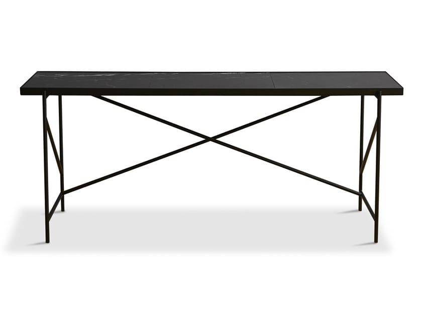 Rectangular powder coated steel writing desk Writing desk by Handvärk
