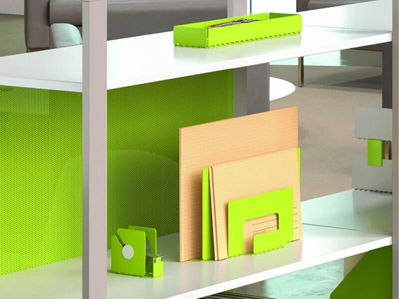 Painted metal desk tray organizer PERFO | Desk tray organizer by Manade