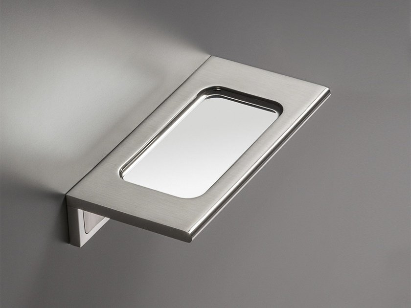 Wall-mounted stainless steel soap dish DET 87 by Ceadesign