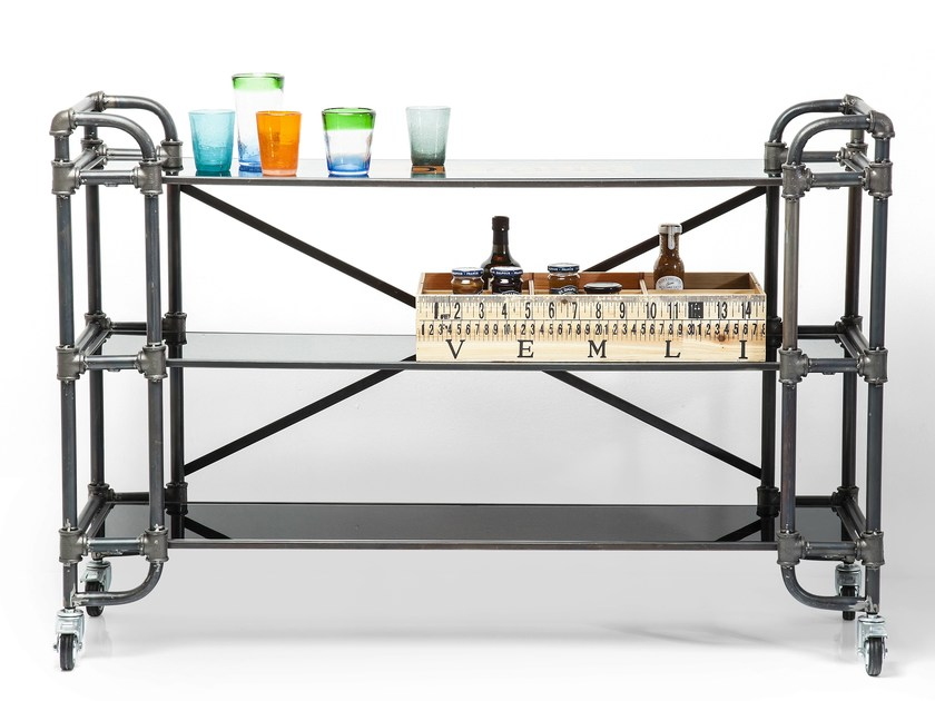 Iron shelving unit with casters DETOUR HALF MOVE by KARE-DESIGN