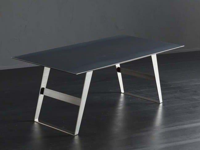 Rectangular iron dining table DETROIT + IRON by AltaCorte