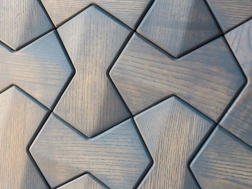 Modular wooden 3D Wall Cladding DETROIT by NEXT LEVEL DESIGN STUDIO