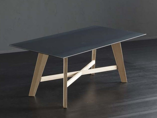 Rectangular iron dining table DETROIT + PECHINO by AltaCorte