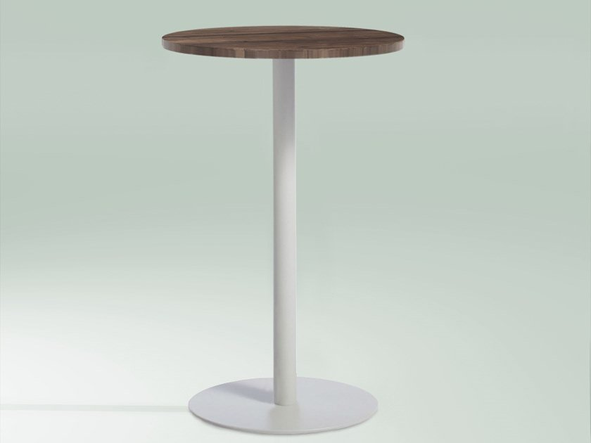 Round Wooden High Table Detroit By Emotional Projects