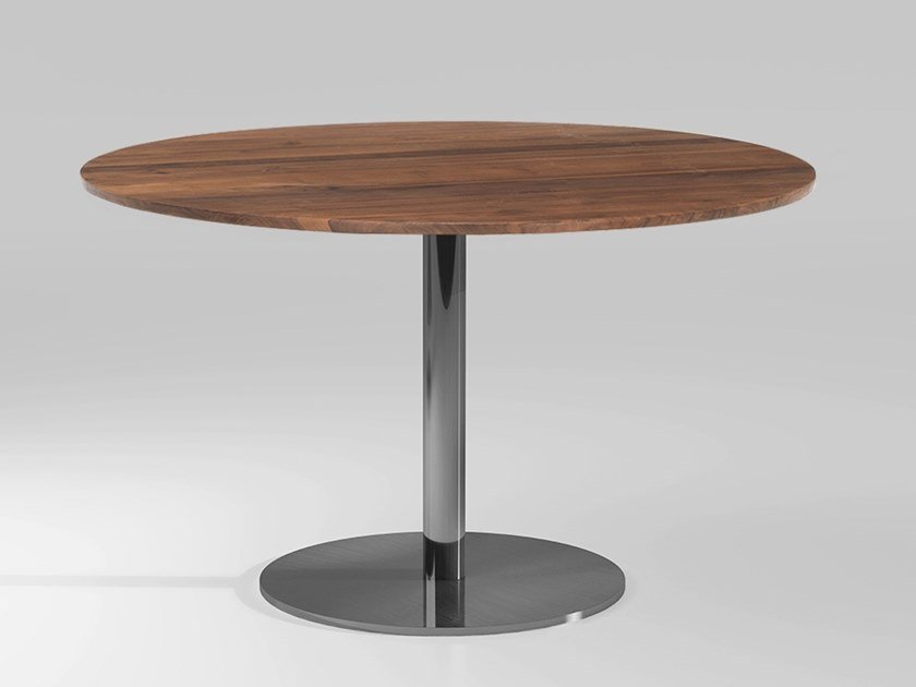 Round wooden dining table DETROIT | Wooden table by Emotional Projects